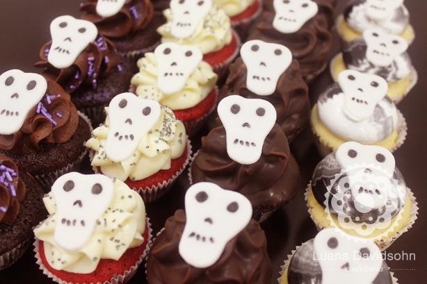 Cupcakes de Caveira | Confeitaria da Luana