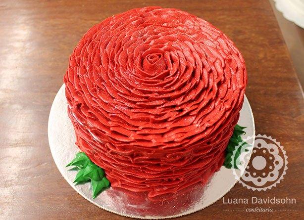 Bolo Rosas Vermelhas