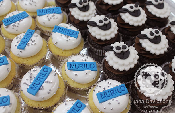 Cupcake com Ovelhas | Confeitaria da Luana