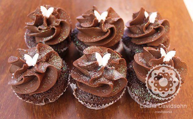 Cupcake de Borboletas para Presente | Confeitaria da Luana