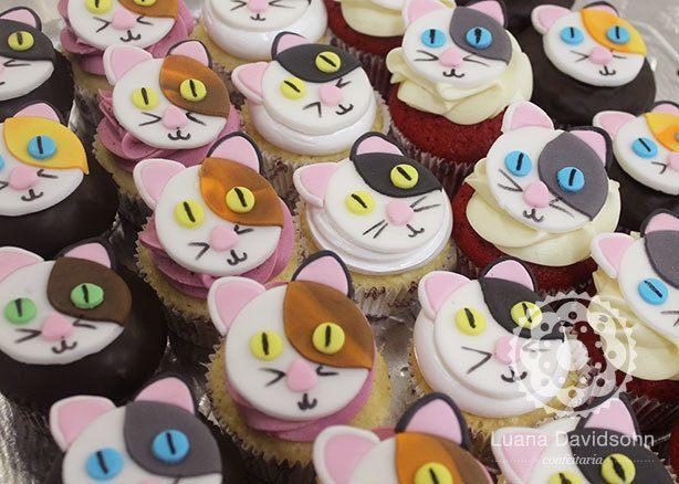 Cupcake Gato para Chá de Bebê | Confeitaria da Luana