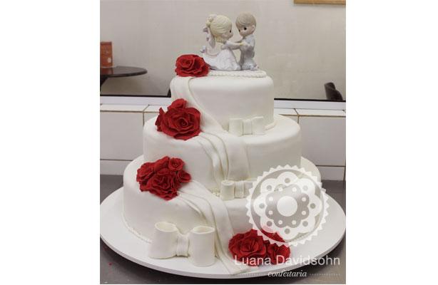 Bolo para Casamento Clássico | Confeitaria da Luana