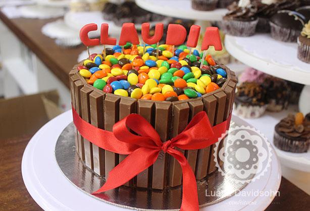 Bolo Kit Kat da Claudia | Confeitaria da Luana