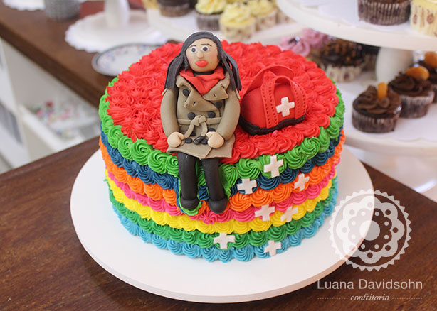 Bolo-convite da Suzana | Confeitaria da Luana