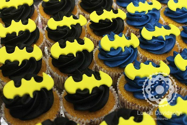 Cupcakes do Batman | Confeitaria da Luana