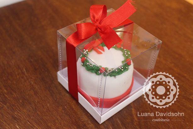 Mini bolo individual de Natal