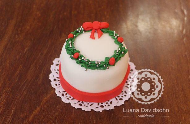 Mini bolo individual de Natal | Confeitaria da Luana