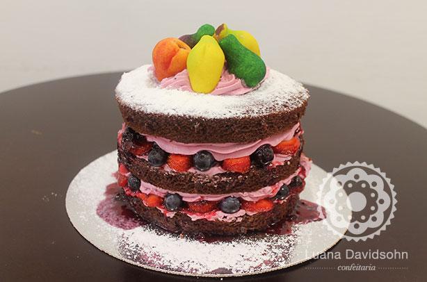 Naked Cake com Marzipan | Confeitaria da Luana