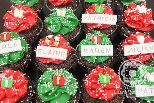 Mini Cupcakes Natalinos | Confeitaria da Luana