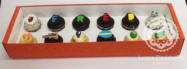 Cupcake de presente para homem   Confeitaria da Luana
