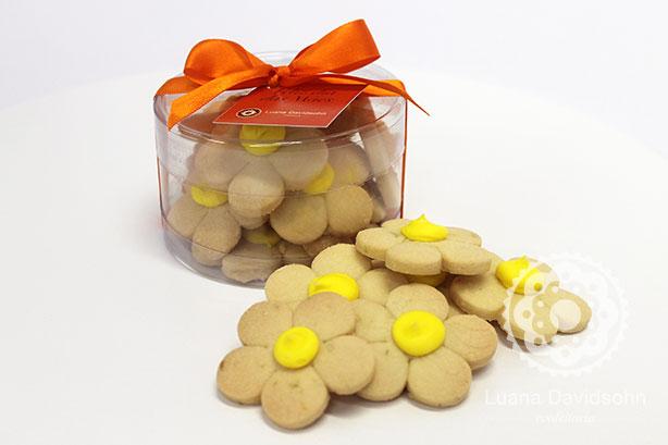 Cookies Amanteigados de Flor | Confeitaria da Luana
