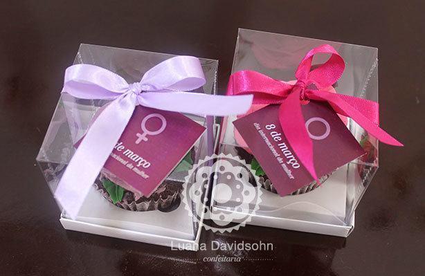 Cupcake Dia da Mulher Flores | Confeitaria da Luana