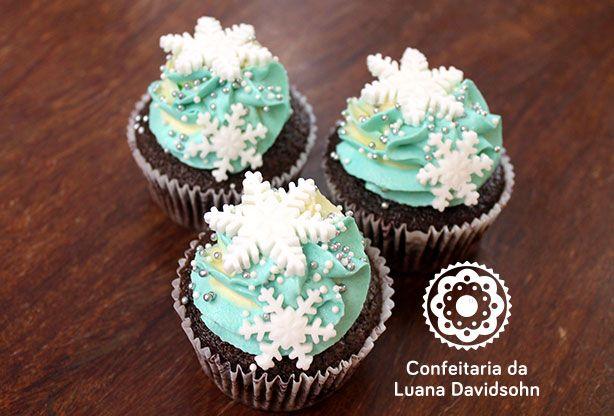 Cupcakes da Frozen | Confeitaria da Luana