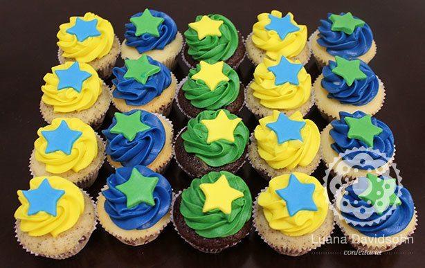 Cupcakes Jogo do Brasil