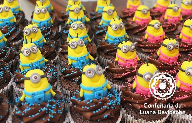 Cupcake de Minions | Confeitaria da Luana
