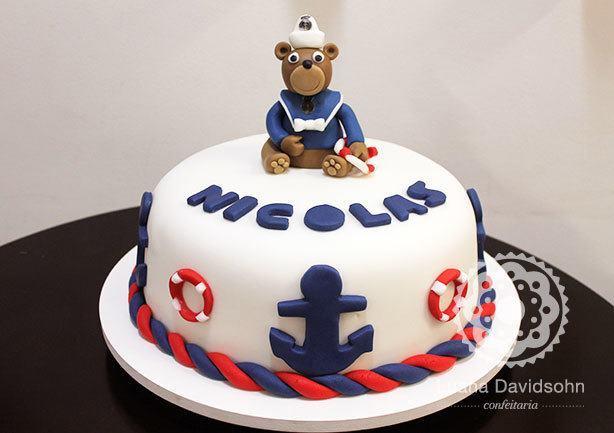 Bolo Urso Marinheiro | Confeitaria da Luana