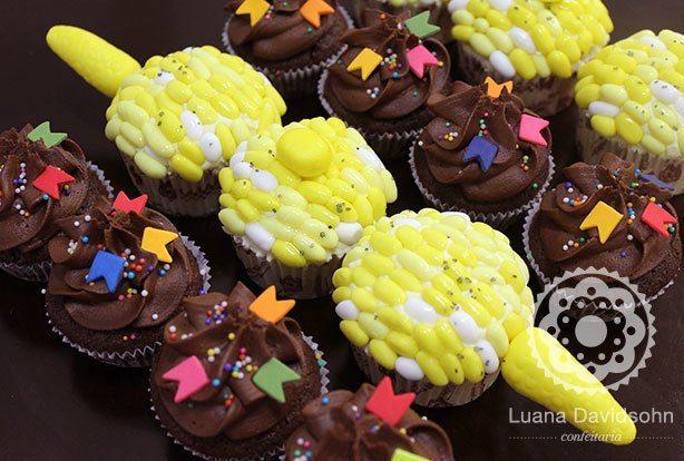Cupcake espiga de milho | Confeitaria da Luana