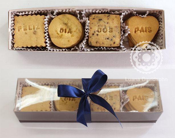 Biscoitos com Palavras Dia dos Pais | Confeitaria da Luana