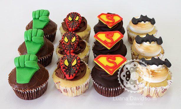 Cupcakes Super Heróis | Confeitaria da Luana