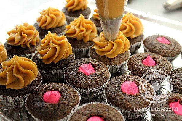 Cupcakes para contar sexo do bebê | Confeitaria da Luana