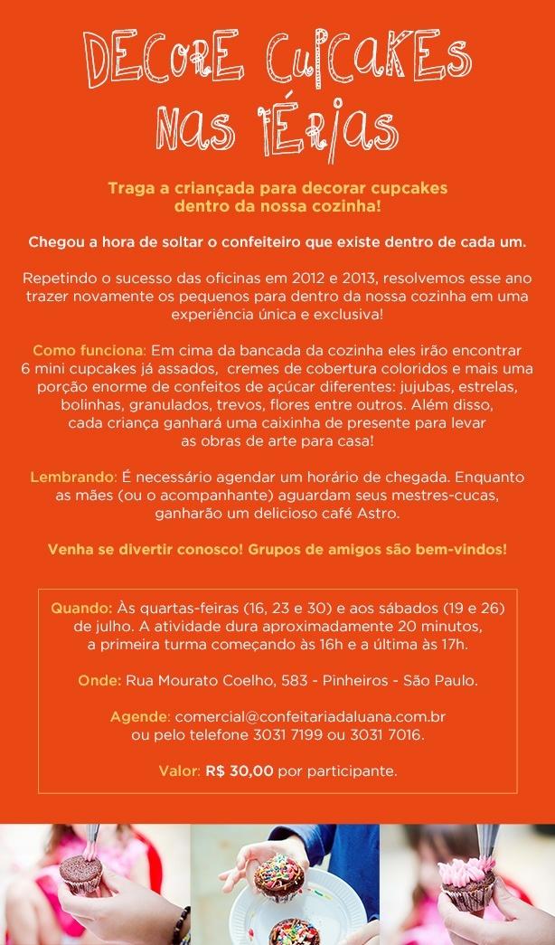 Decore nas Férias 2014   Confeitaria da Luana