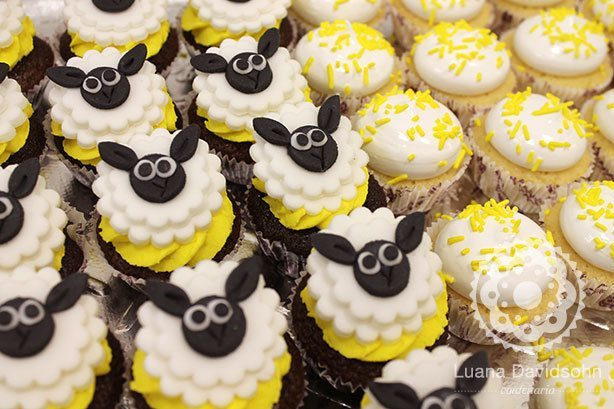 Cupcake para Chá de Bebê da Maria | Confeitaria da Luana