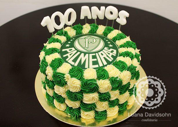 Bolo de 100 anos do Palmeiras | Confeitaria da Luana