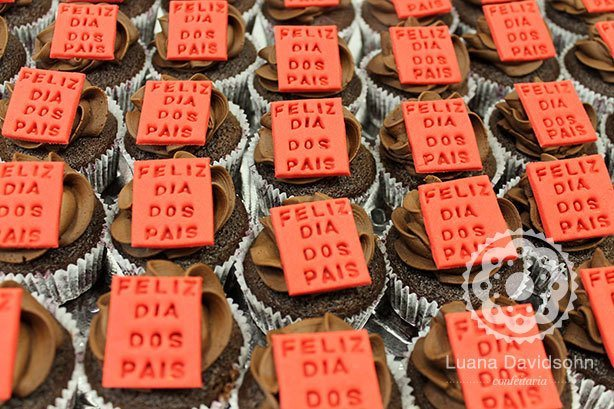 Cupcakes Dia dos Pais Corporativo | Confeitaria da Luana