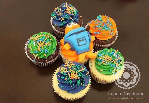 Cupcakes Peixonauta   Confeitaria da Luana