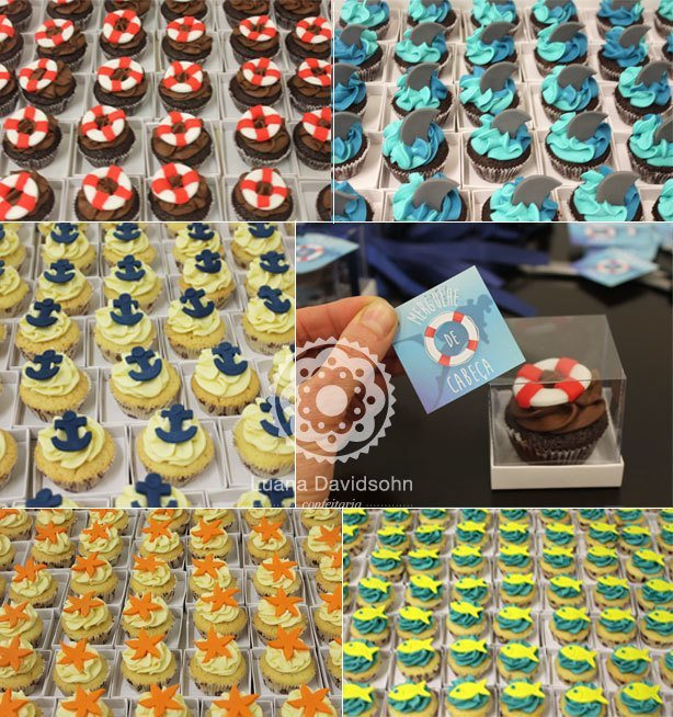 Cupcakes para IBM no Fundo do Mar | Confeitaria da Luana