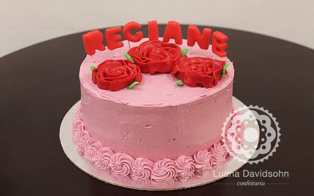 Bolo de Rosas para Regiane | Confeitaria da Luana