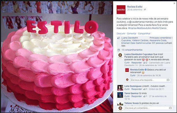Bolo de Aniversário Revista Estilo | Confeitaria da Luana