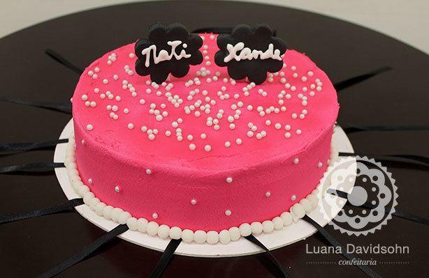 Bolo Chá de Lingerie Pink | Confeitaria da Luana