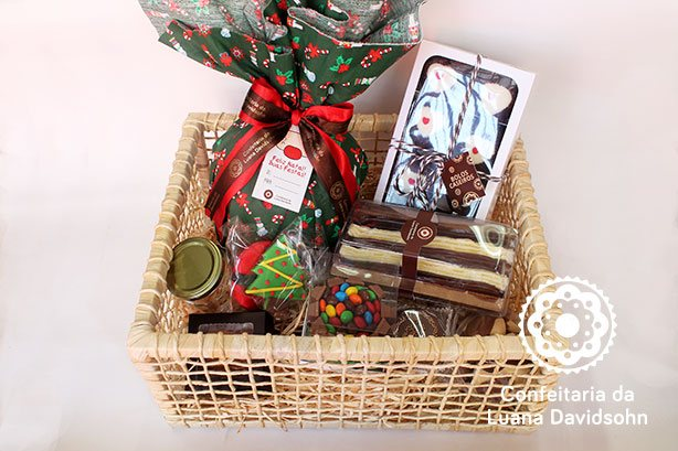 Cestas de Natal Artesanal | Confeitaria da Luana