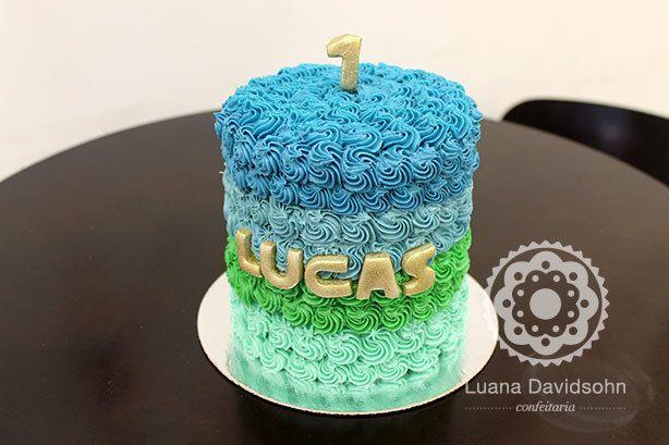 Bolo Arco Ìris para Smash The Cake   Confeitaria da Luana