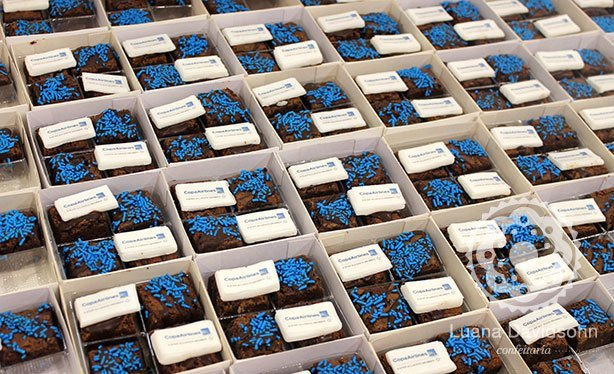 Brownies Personalizados Eventos Copa Airlines | Confeitaria da Luana