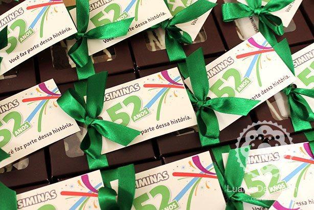 Brownies Logo Aniversário Empresa