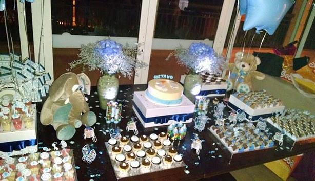Bolo e Cupcakes Chá de Bebê do Gustavo | Confeitaria da Luana