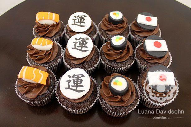 Cupcakes Japão | Confeitaria da Luana