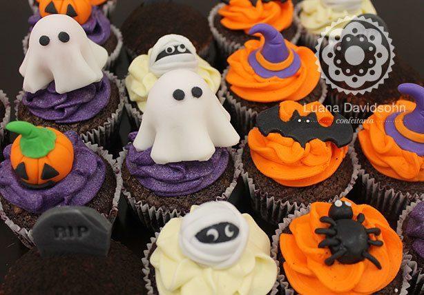 Cupcakes de Halloween de Presente | Confeitaria da Luana