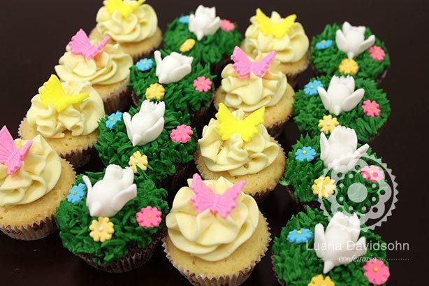Passarinhos e Borboletas em Cupcakes | Confeitaria da Luana