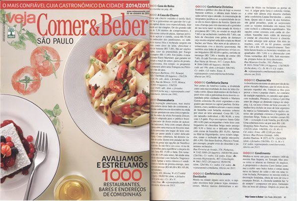 Comer e Beber 2014 – Confeitaria da Luana | Confeitaria da Luana