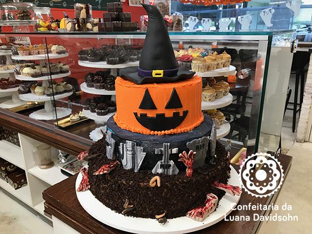 Bolo Decorado de Halloween | Confeitaria da Luana
