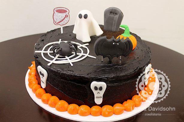 Bolo de Halloween assustador | Confeitaria da Luana
