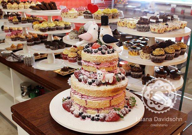 Bolo Naked Cake para Casamento | Confeitaria da Luana