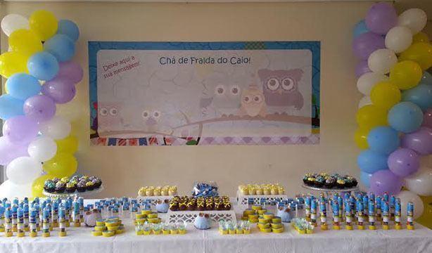 Mesa de Doces Chá de Bebê | Confeitaria da Luana