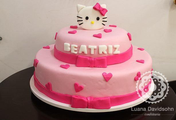 Bolo da Hello Kitty | Confeitaria da Luana