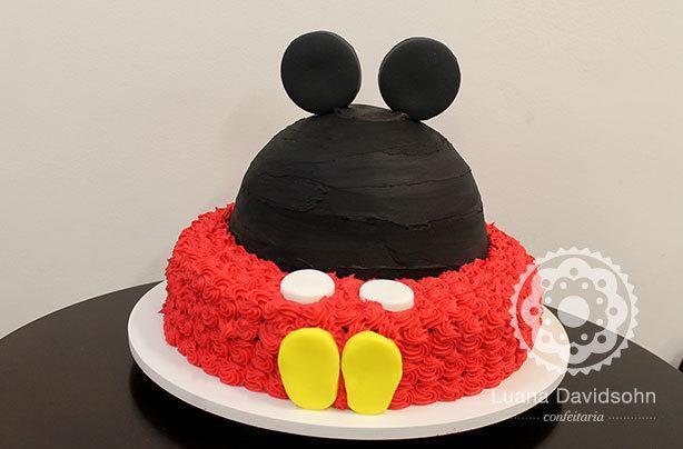 Bolo Mickey 2 andares | Confeitaria da Luana