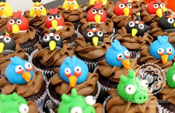 Cupcakes Angry Birds | Confeitaria da Luana