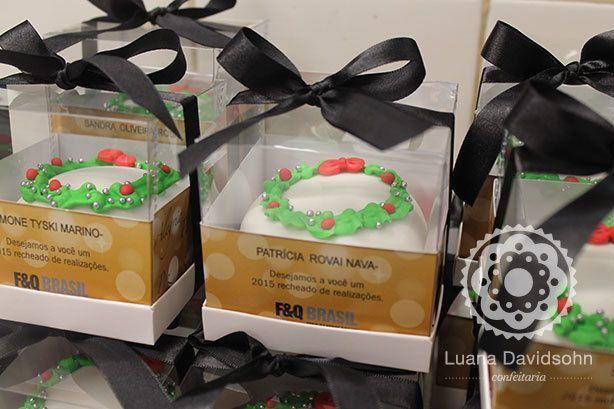 mini bolo brinde natal